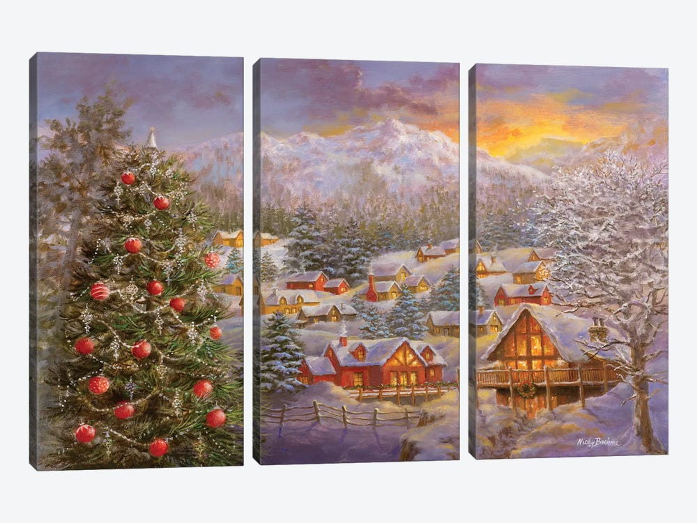 Season's Greetings by Nicky Boehme 3-piece Canvas Art Print