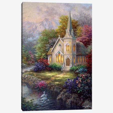 Serenity Canvas Print #BOE137} by Nicky Boehme Canvas Artwork