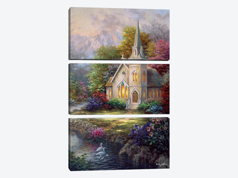 Serenity by Nicky Boehme 3-piece Canvas Artwork