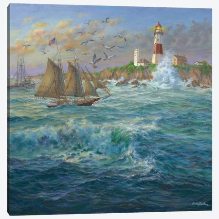Shipmates Canvas Print #BOE138} by Nicky Boehme Canvas Print