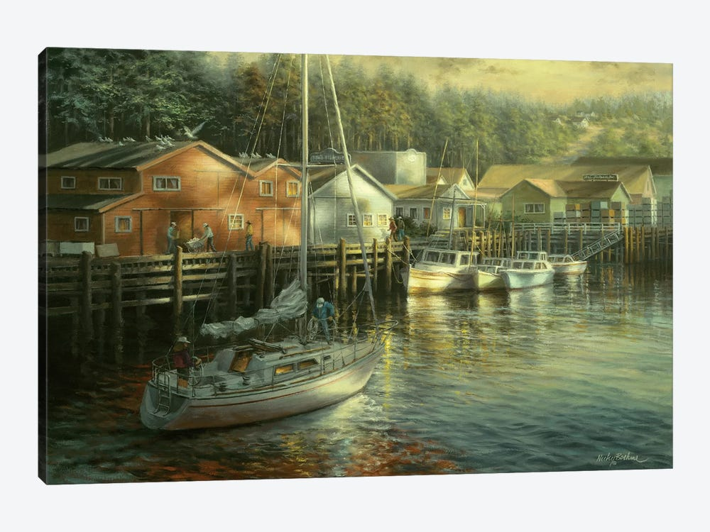 Skillful Seafarer by Nicky Boehme 1-piece Canvas Art