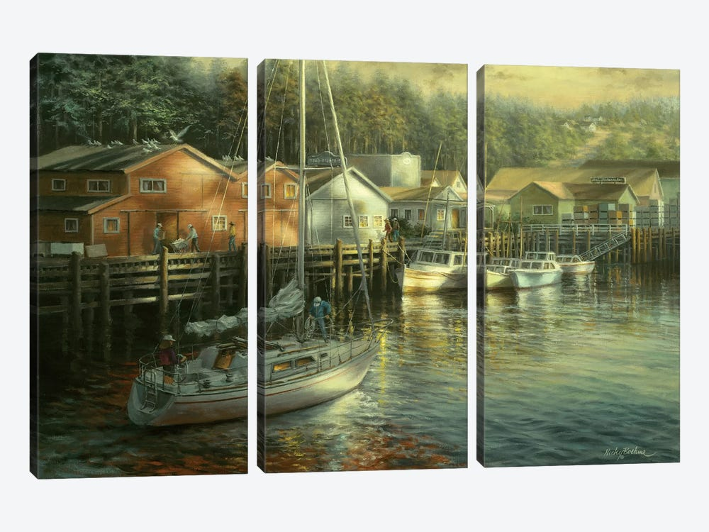 Skillful Seafarer by Nicky Boehme 3-piece Canvas Wall Art
