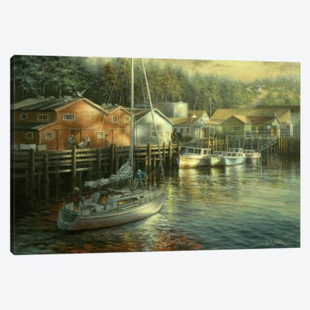 Skillful Seafarer 3-Piece Canvas #BOE140} by Nicky Boehme Canvas Wall Art