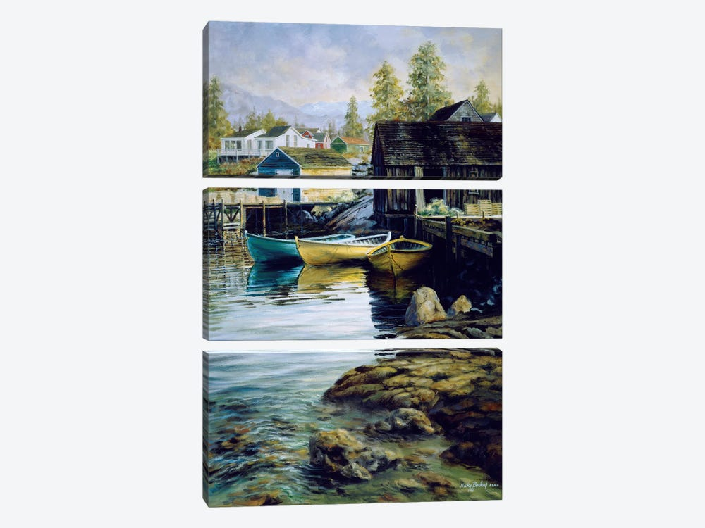 Solitude by Nicky Boehme 3-piece Canvas Art