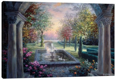 Soulful Mediterranean Tranquility Canvas Art Print