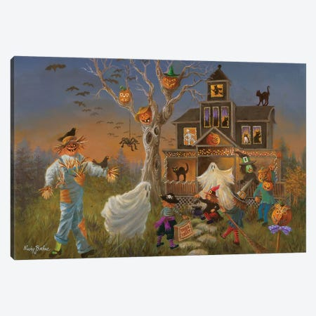 Spooky Halloween Canvas Print #BOE144} by Nicky Boehme Art Print