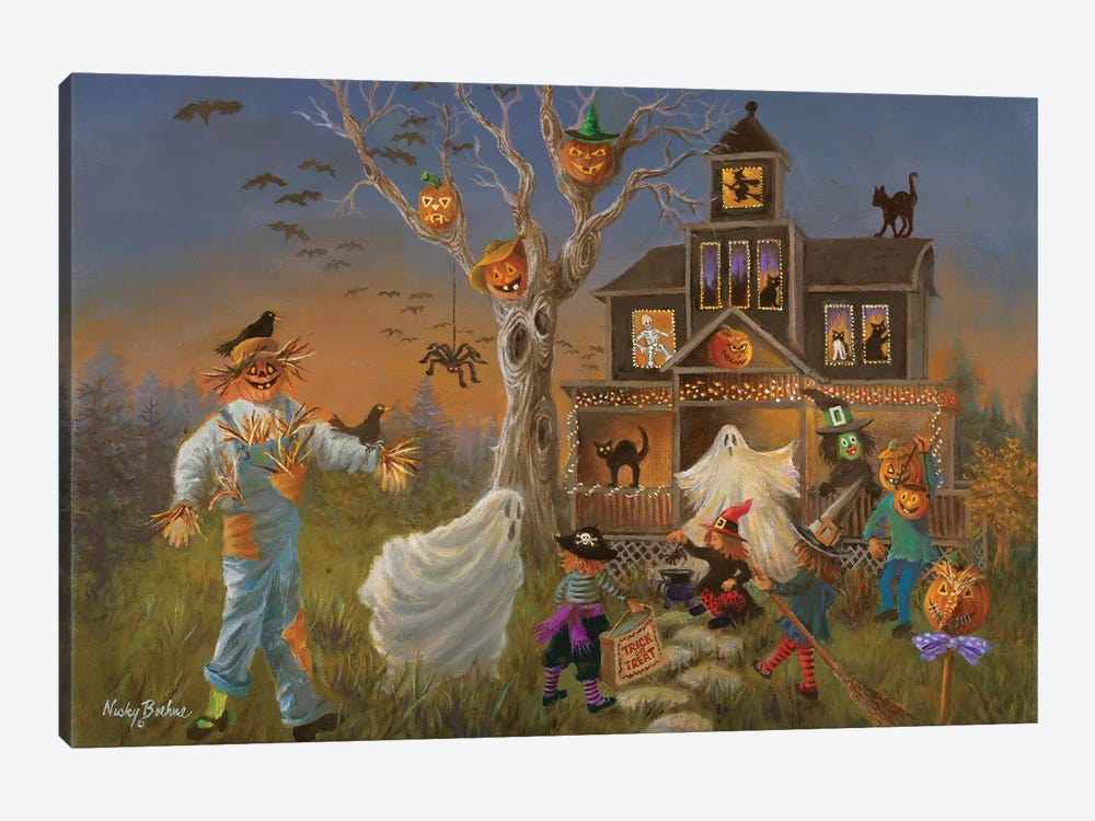 Spooky Halloween by Nicky Boehme 1-piece Canvas Art