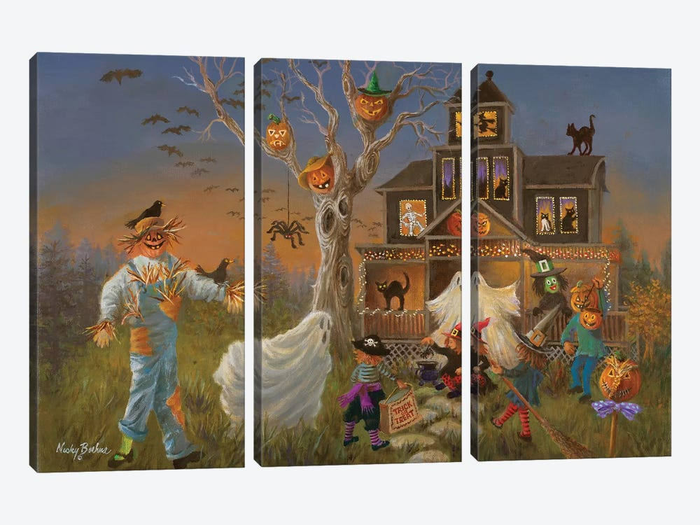 Spooky Halloween by Nicky Boehme 3-piece Canvas Wall Art