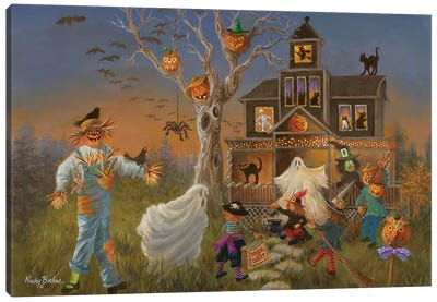 Spooky Halloween Canvas Art Print