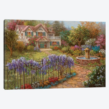 Springtime Hideaway Canvas Print #BOE146} by Nicky Boehme Canvas Art Print