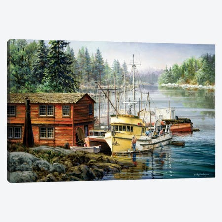 Spruced And Spry Canvas Print #BOE147} by Nicky Boehme Canvas Print