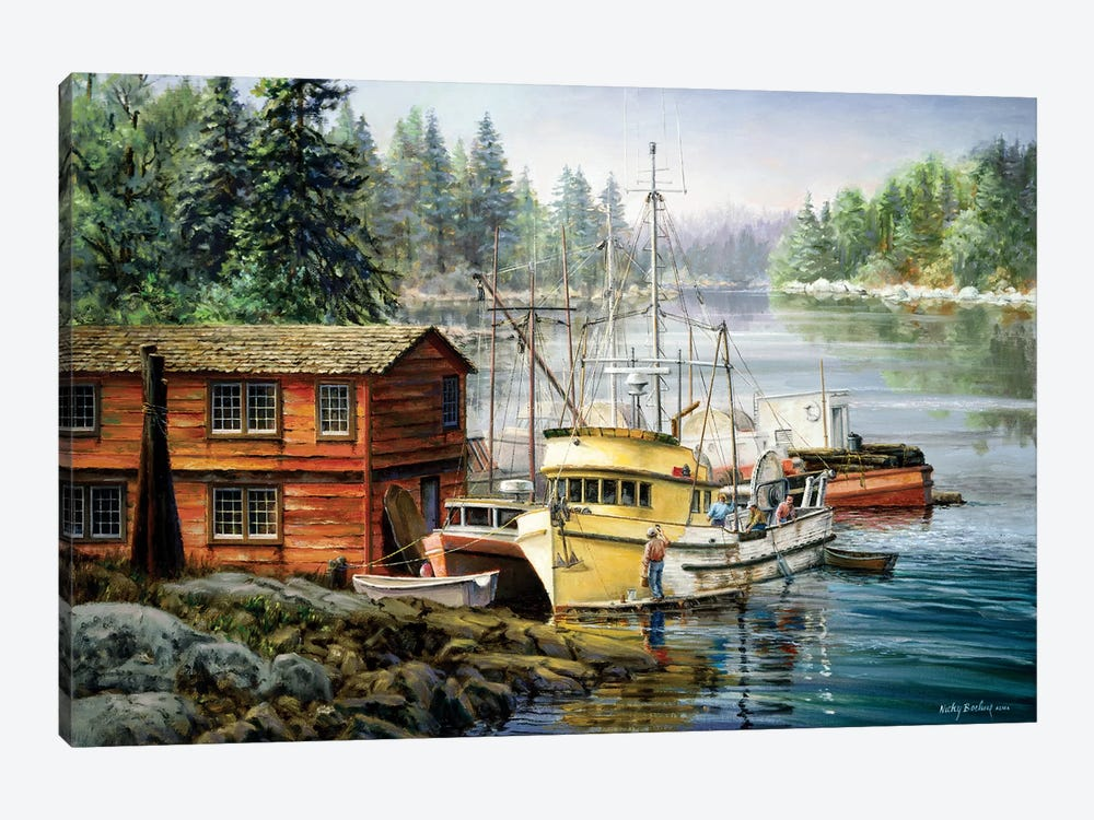 Spruced And Spry by Nicky Boehme 1-piece Canvas Art Print