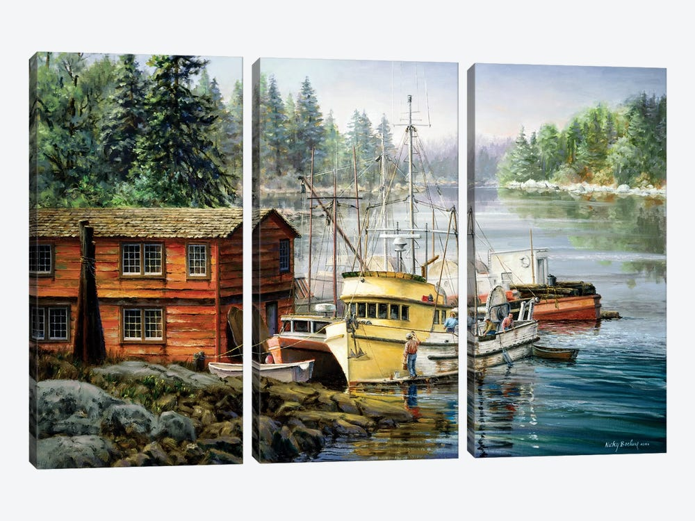 Spruced And Spry by Nicky Boehme 3-piece Art Print