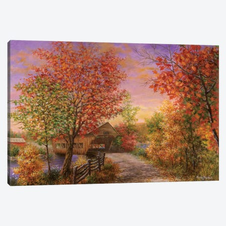 Autumn's Color Of Fashion Canvas Print #BOE14} by Nicky Boehme Canvas Art