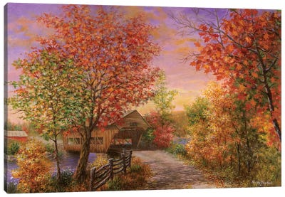 Autumn's Color Of Fashion Canvas Art Print