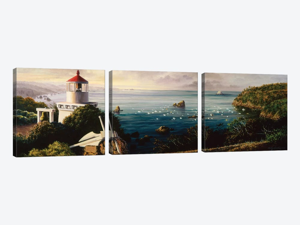 The Cove Guardian by Nicky Boehme 3-piece Canvas Print