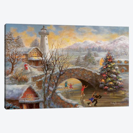 The Joyous Season Canvas Print #BOE153} by Nicky Boehme Canvas Print