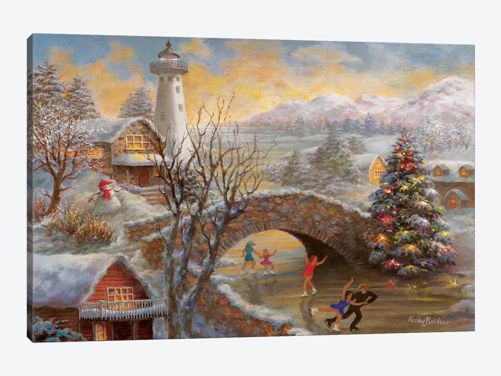 The Joyous Season by Nicky Boehme 1-piece Canvas Wall Art