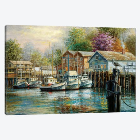 The Lone Sentinel Canvas Print #BOE154} by Nicky Boehme Canvas Artwork