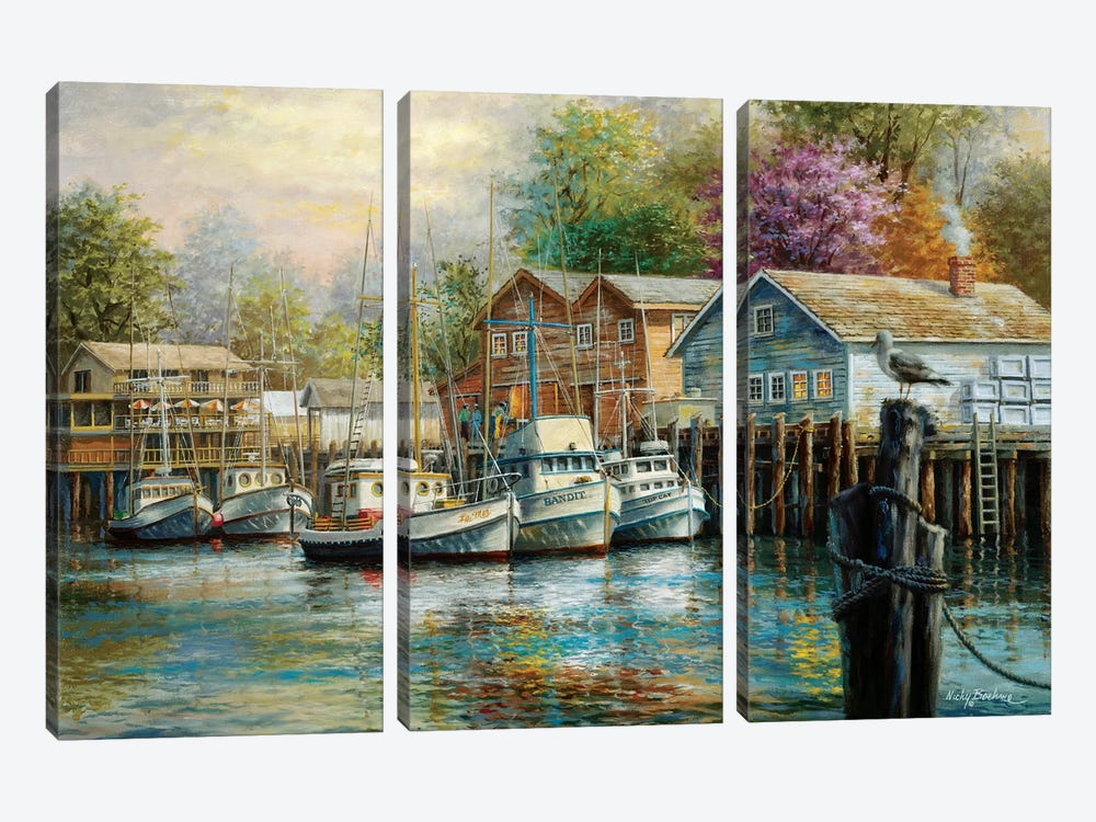The Lone Sentinel by Nicky Boehme 3-piece Canvas Print