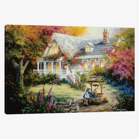The Wishing Well Canvas Print #BOE155} by Nicky Boehme Canvas Art