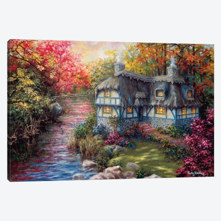 There's No Place Like Home Canvas Print #BOE156} by Nicky Boehme Canvas Wall Art