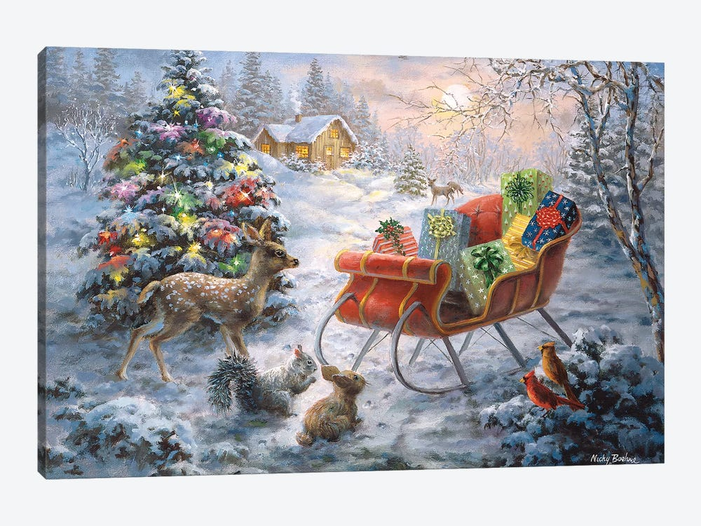 Tis' The Night Before Xmas by Nicky Boehme 1-piece Canvas Artwork