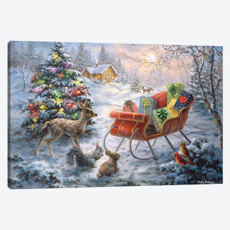 Tis' The Night Before Xmas Canvas Print #BOE157} by Nicky Boehme Canvas Wall Art