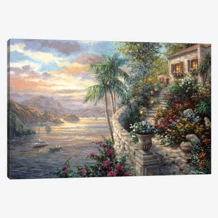 Tranquil Sea Canvas Print #BOE158} by Nicky Boehme Canvas Art Print