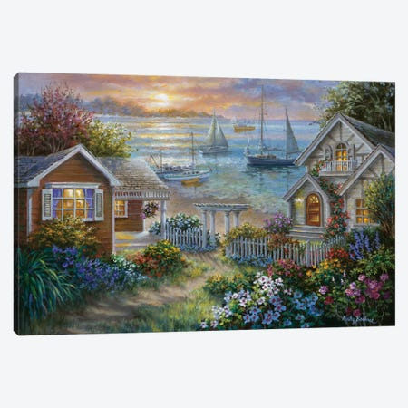 Tranquil Seafront Canvas Print #BOE159} by Nicky Boehme Canvas Print