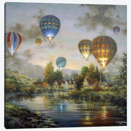 Balloon Glow Canvas Print #BOE15} by Nicky Boehme Canvas Art