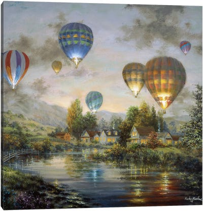 Balloon Glow Canvas Art Print