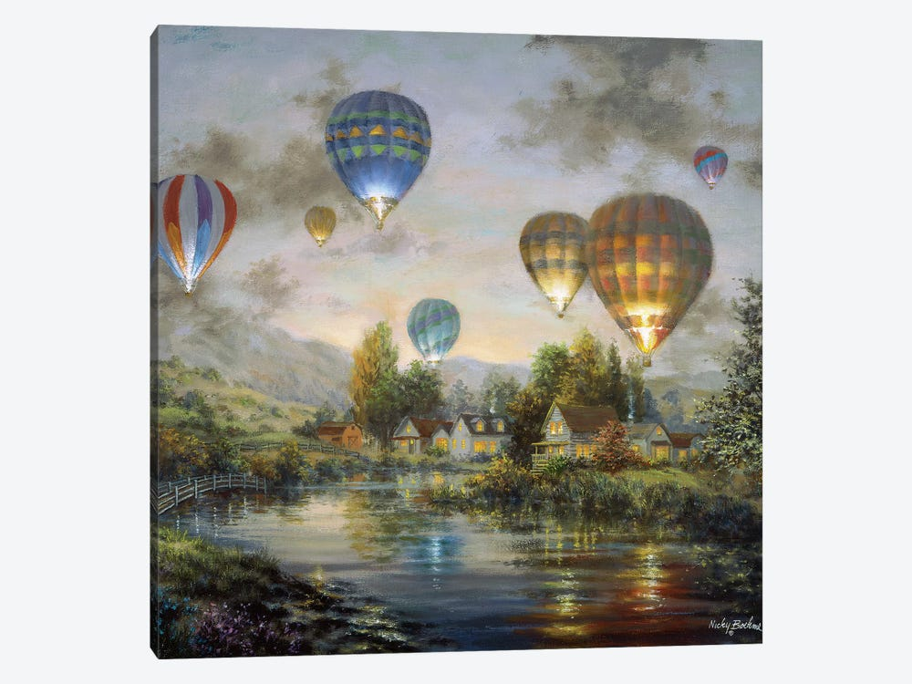 Balloon Glow by Nicky Boehme 1-piece Canvas Print
