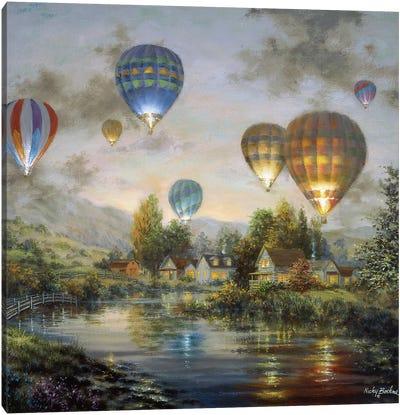Balloon Glow Canvas Art Print