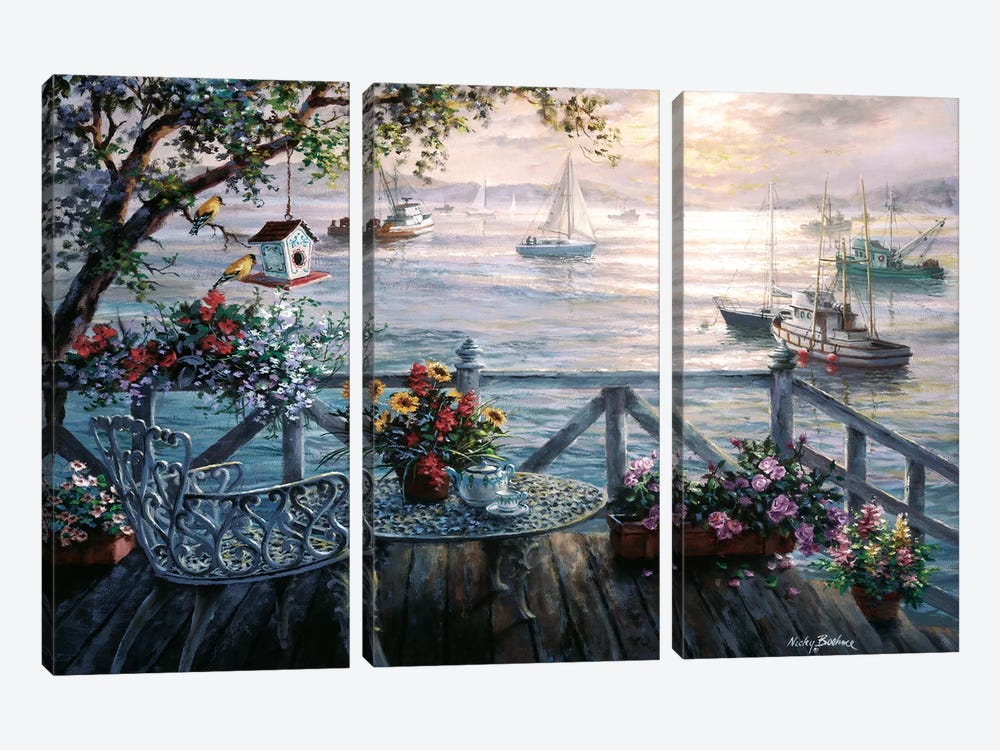 Treasures Of The Sea by Nicky Boehme 3-piece Canvas Wall Art