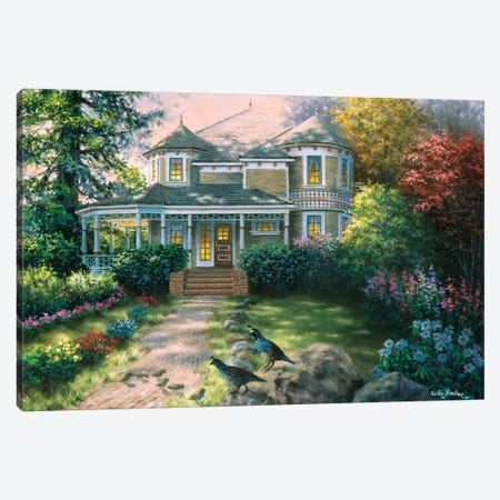 Victorian Interlude Canvas Print #BOE162} by Nicky Boehme Canvas Artwork