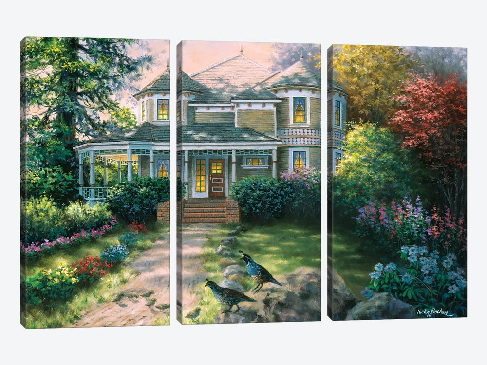 Victorian Interlude by Nicky Boehme 3-piece Canvas Art