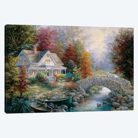 Victorian Splendor Canvas Print #BOE163} by Nicky Boehme Canvas Art