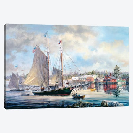 Voyage Preparation Canvas Print #BOE164} by Nicky Boehme Art Print