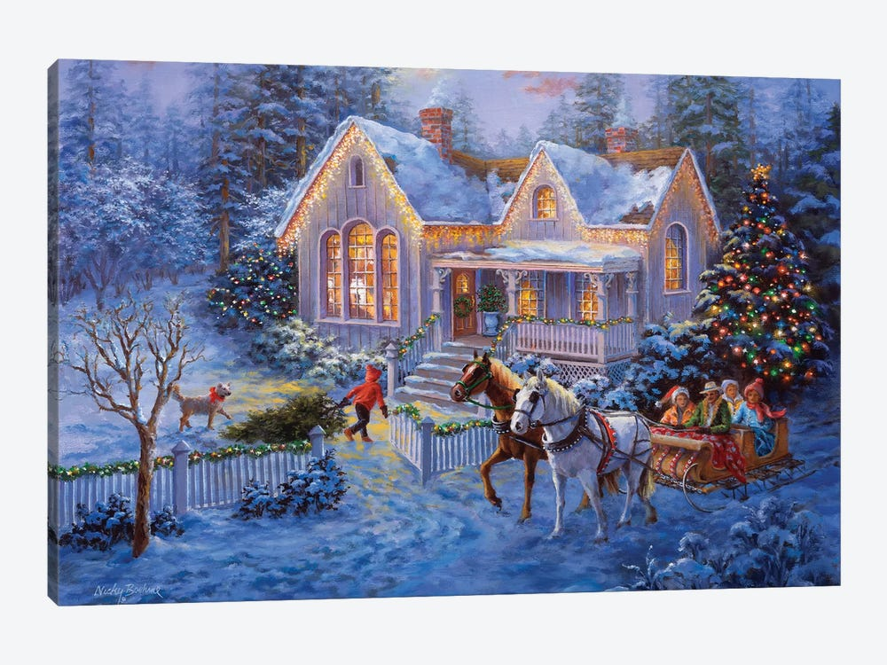 Welcome Home by Nicky Boehme 1-piece Canvas Print