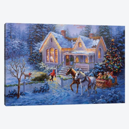 Welcome Home Canvas Print #BOE165} by Nicky Boehme Canvas Art Print