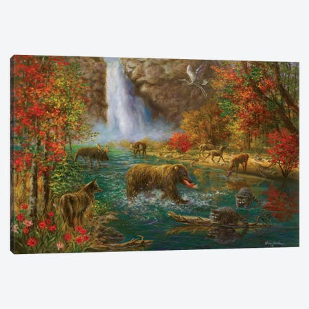 Where The Animals Play Canvas Print #BOE166} by Nicky Boehme Canvas Art Print
