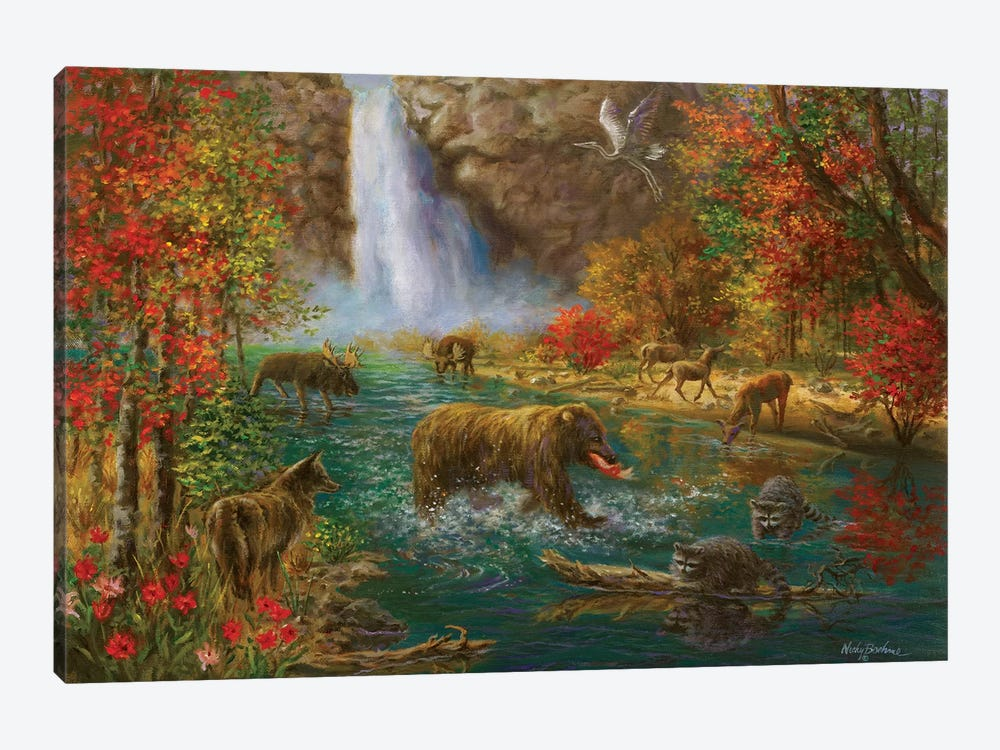 Where The Animals Play by Nicky Boehme 1-piece Canvas Artwork