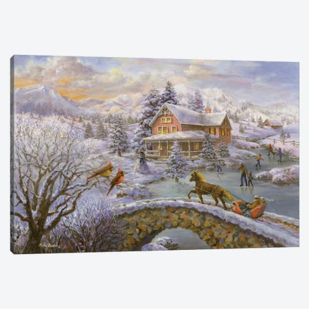 Winter Joy Canvas Print #BOE168} by Nicky Boehme Canvas Wall Art