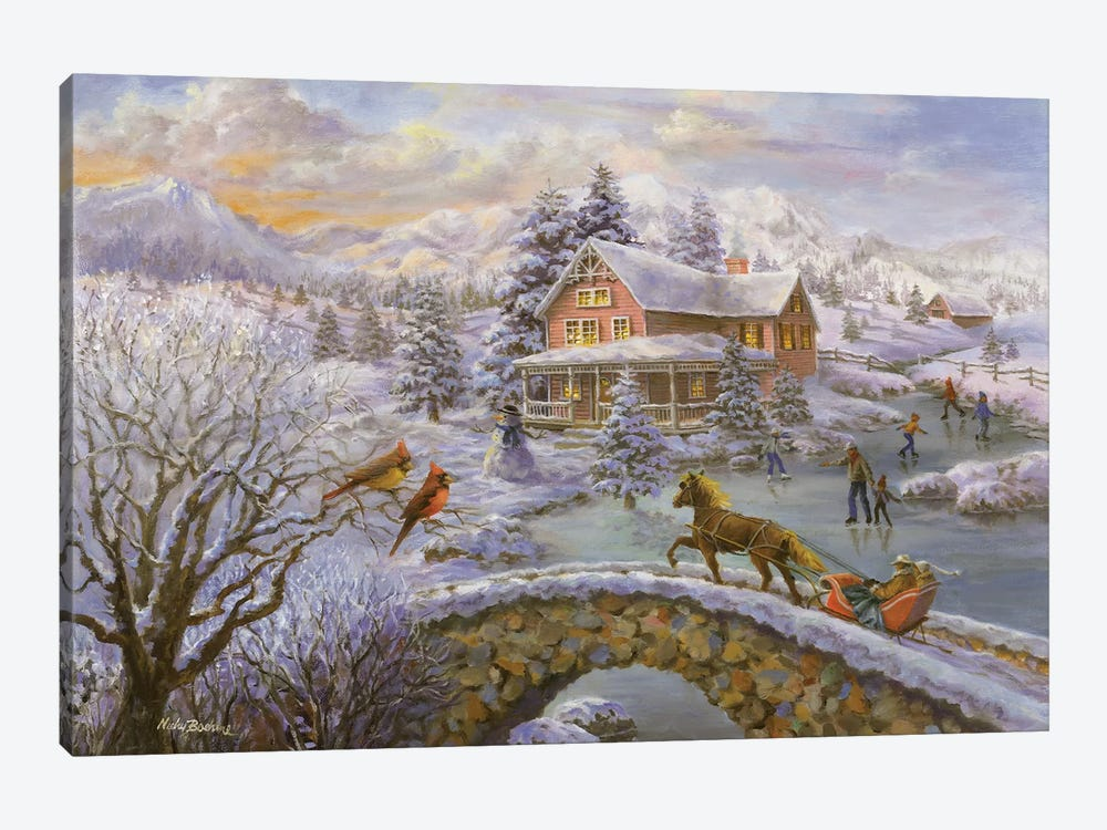 Winter Joy by Nicky Boehme 1-piece Canvas Wall Art