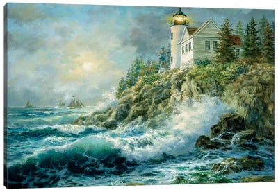 Bass Harbor Lighthouse Canvas Art Print