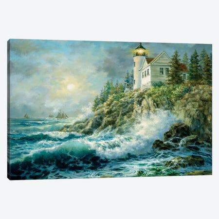 Bass Harbor Lighthouse Canvas Print #BOE16} by Nicky Boehme Canvas Artwork