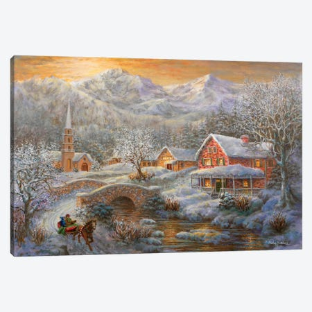 Winter Merriment Canvas Print #BOE170} by Nicky Boehme Canvas Art Print