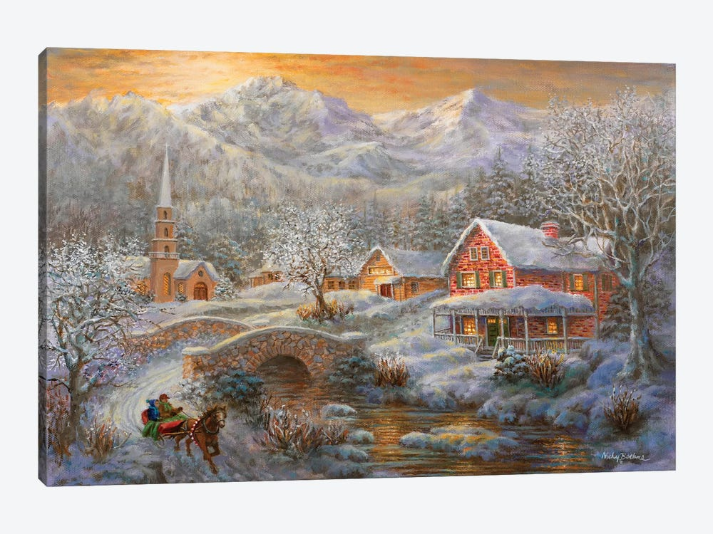 Winter Merriment by Nicky Boehme 1-piece Canvas Print