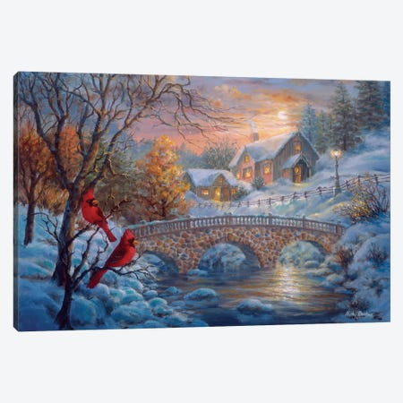 Winter Sunset Canvas Print #BOE171} by Nicky Boehme Canvas Art Print